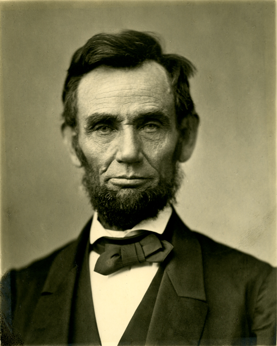 Abraham Lincoln, one of the characters of George Saunders' Lincoln in the Bardo, looking sad and withdrawn.