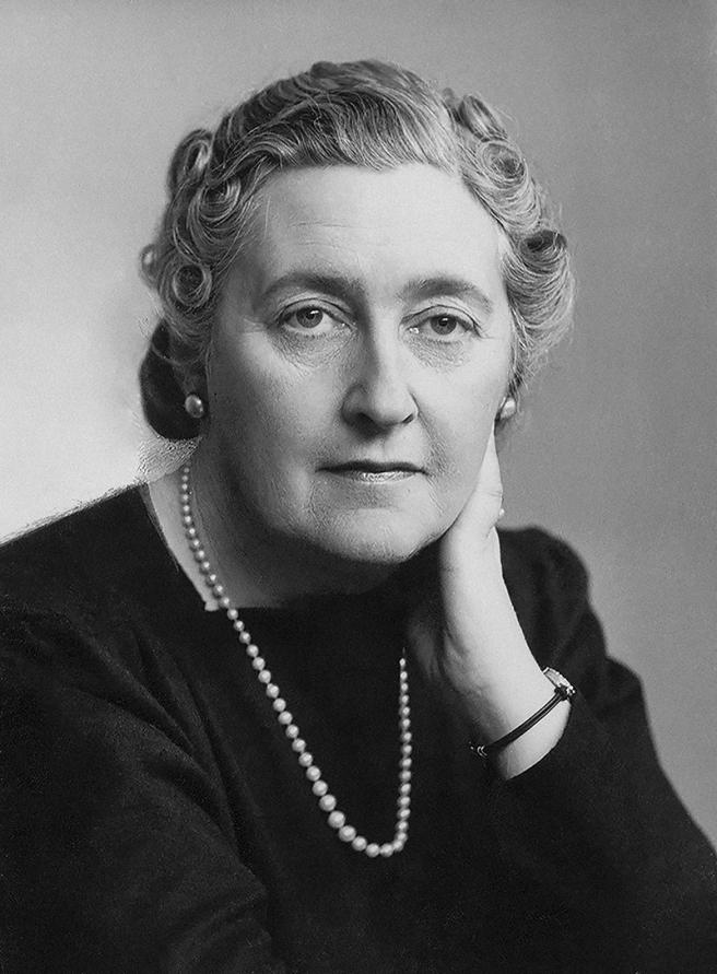 Crime writer Agatha Christie