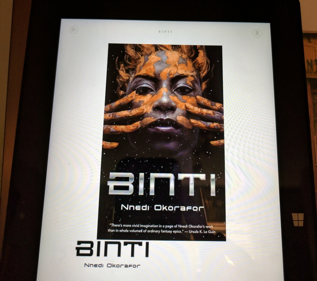 Kindle Binti novella manual picture