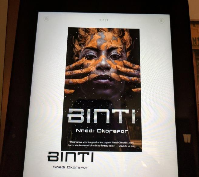 Kindle Binti novella manual picture
